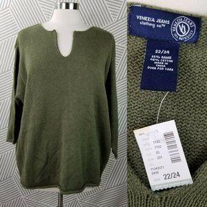 New Lane Bryant Venezia Boxy Sweater Plus 22/24 3X